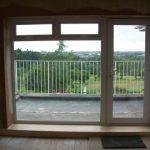 large window with door