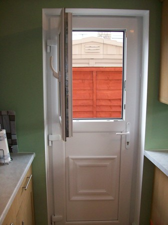 Upvc white back door jg homes improvements for White back door