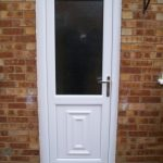 white PVC double glazing back door
